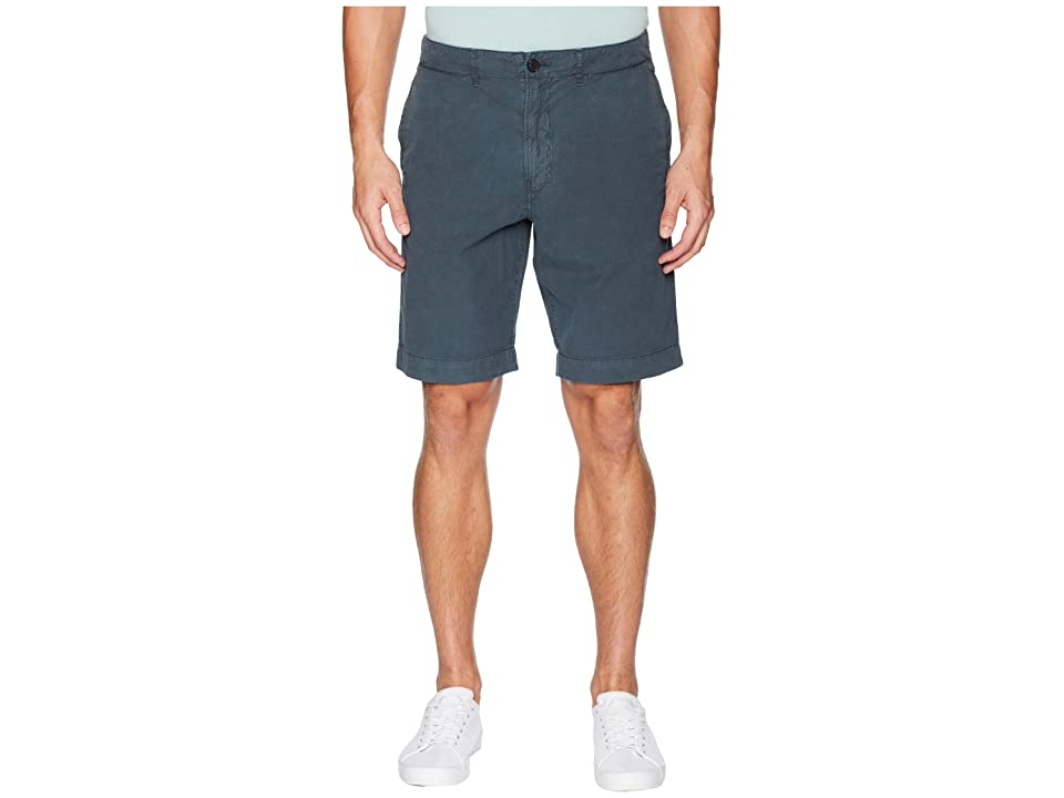Image of Billy Reid Clyde Cotton Shorts (Indigo) Men's Shorts