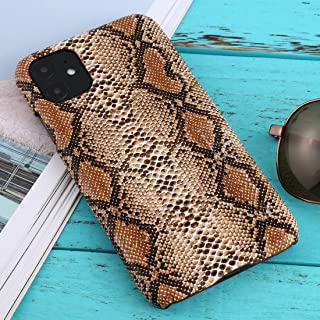 For iPhone 11 Snakeskin Pattern Paste Skin Protective Case New (White) Hengk (Color : Brown)