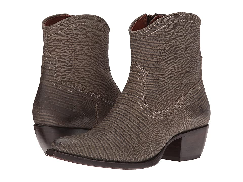 Frye Sacha Short (Olive Lizard Embossed) Cowboy Boots