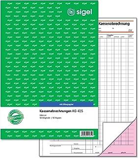 Sigel Cash Ledger Double with Blue Paper A42x 50Sheets 1 Stück - KG425