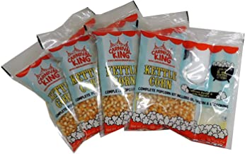 Al In One Kettle Corn Kit for 6 OZ popper or Larger, 4 Pack
