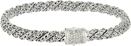 Twist Chain Diamond Pave Flat Bracelet