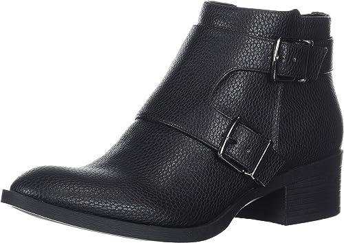 Kenneth Cole REACTION Woherren Re-Buckle Moto Ankle Stiefel, schwarz, 9.5 M US