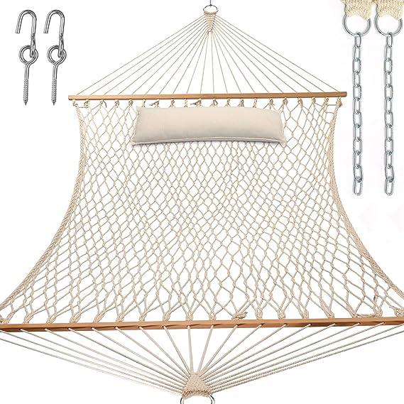 A garden hammock