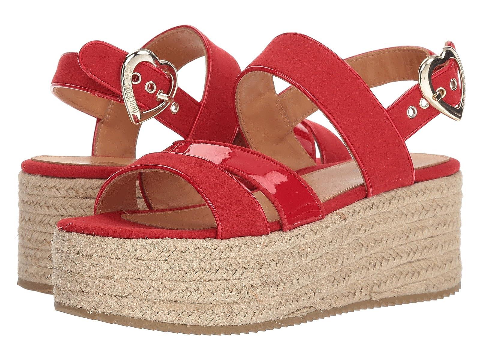 LOVE Moschino Suede Platform SandalAtmospheric grades have affordable shoes