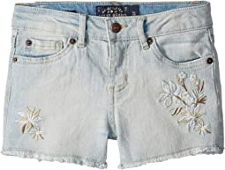 Dora Stretch Denim Shorts (Little Kids)