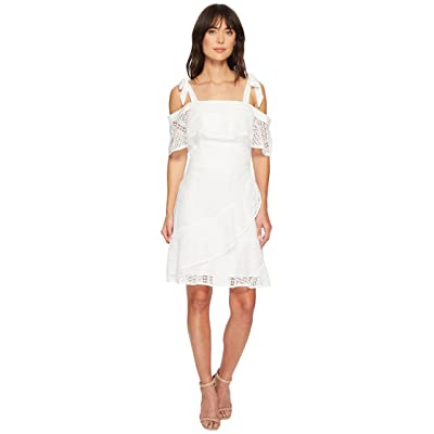 Adelyn Rae Maxine Fit and Flare Dress (White) Women