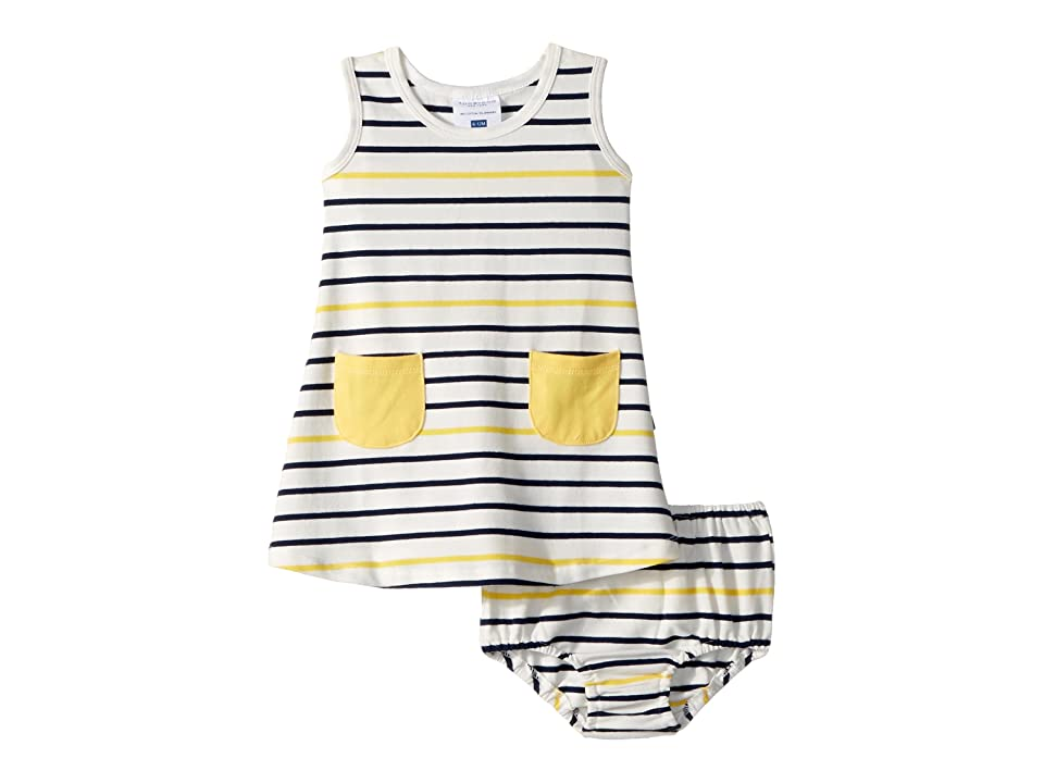 Toobydoo Ready For The Beach Tank Dress (Infant/Toddler) (Yellow) Girl