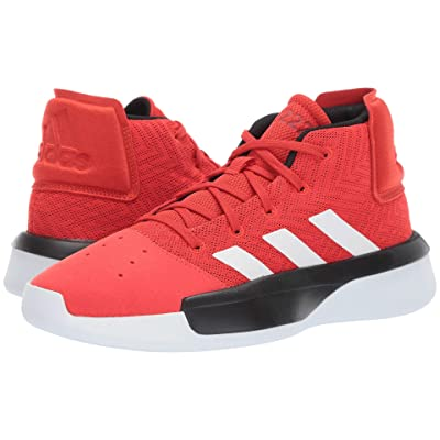 adidas Kids Pro Adversary 2019 Basketball (Little Kid/Big Kid) (Red/White/Black) Kids Shoes