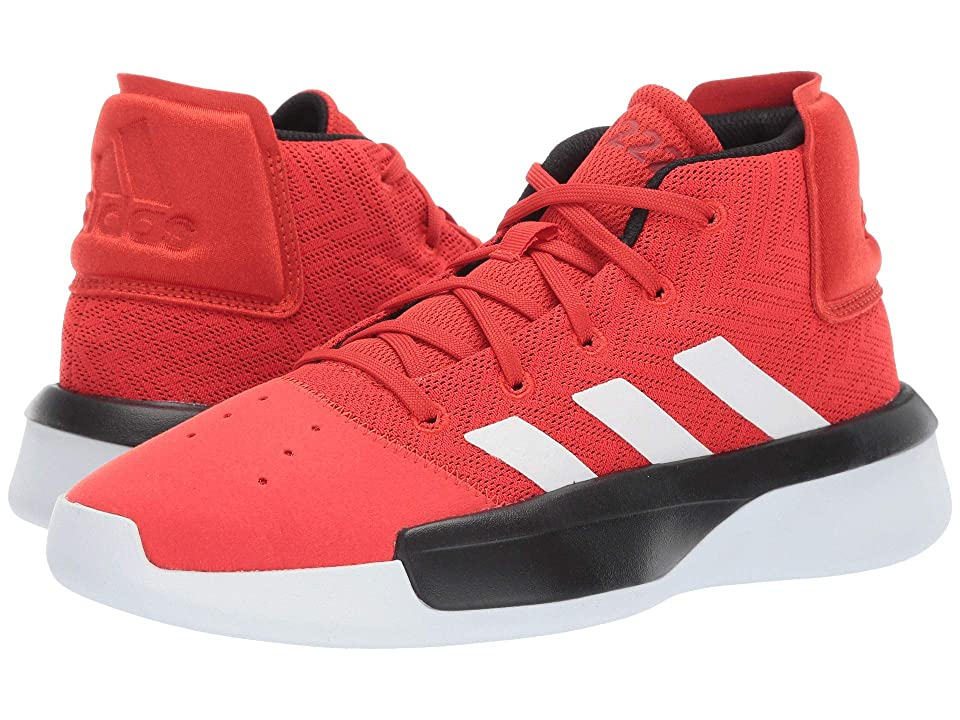 adidas Kids Pro Adversary 2019 Basketball (Little Kid/Big Kid) (Red/White/Black) Kids Shoes