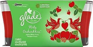 Glade Jar Candle Air Freshener, Flirty Orchard Kiss, 2 Candles, 6.8 oz