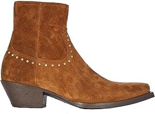 Luxury Fashion | Saint Laurent Men 6031881NZTT2330 Brown Suede Ankle Boots | Spring-summer 20