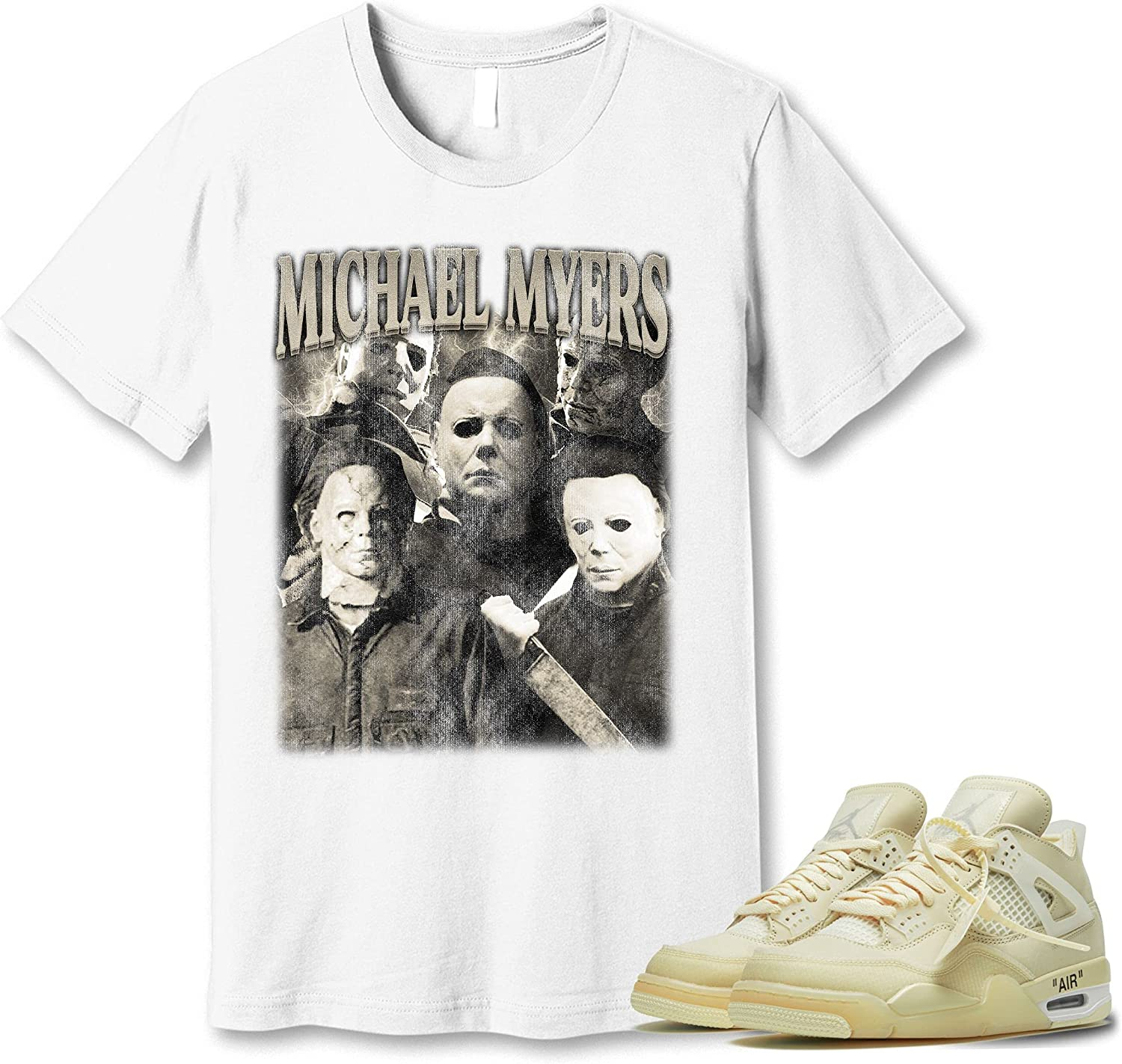 #Michael #Myer We OFFer at Animer and price revision cheap prices T-Shirt to Match Jordan Snkr White Off- 4 Sneaker