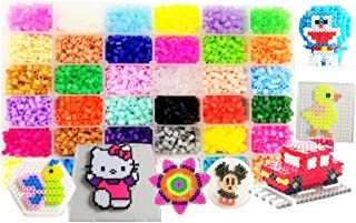 Vytung Fuse Beads Kit-10000 pcs 36 Colors(6 Glow in Dark) 5Peg Boards 89pattern(29 full size) Iron Papers Tweezers Storage Case Perler Beads Compatible Kit