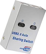 SinLoon USB Sharing Switch,3 in 1 (1) 2 Ports Auto Printer Sharing Switch Hub Box,High Speed Sharing Switcher Auto Printer Scanner External