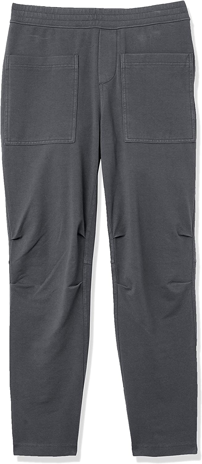 Daily Ritual Women's Stretch Cotton Knit Twill Seamed Utility Pant