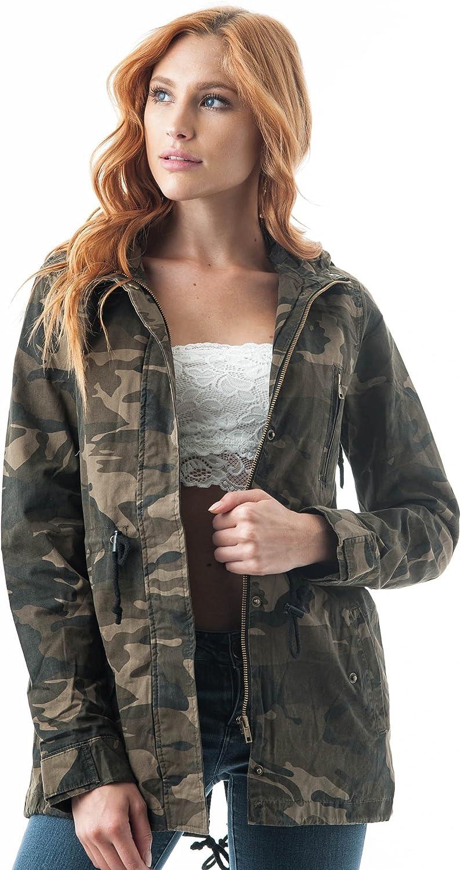 Khanomak Hooded Long Sleeve Utility Military Jacket