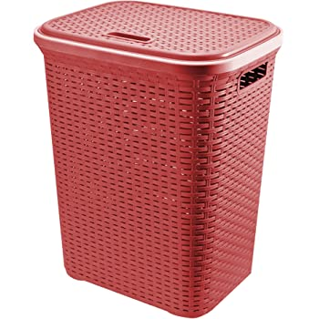 Rattan Laundry Basket 50L Capacity(Colour may be vary as per stock availability-Black & Brown)