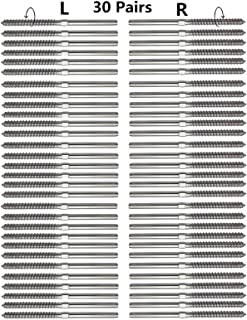 Senmit Swage Lag Screws Left & Right 60 Pack for 1/8