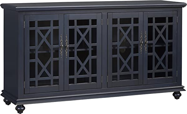 Martin Svensson Home 91005 Avalon 63 TV Stand W X 35 H Catalina Blue