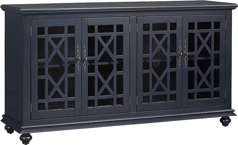 Martin Svensson Home 91005 Avalon 63 TV Stand W X 35 H Catalina Blue