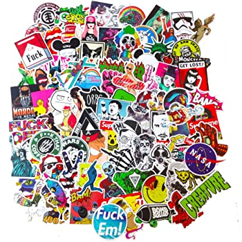 100 pieces Stickers Motor Graffiti Vinyl Skate Skateboard Laptop Luggage Decal
