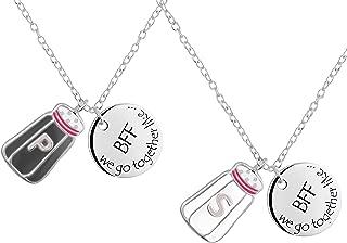 Best Friends Necklace for 2: .925 Sterling Silver We Go Together Like Salt & Pepper BFF Necklace Set