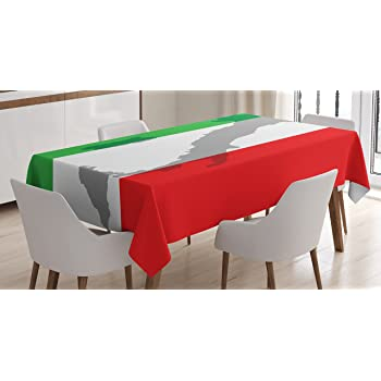"""ITALY ITALIAN TABLE RUNNER 11/"""" WIDE 72/"""" LONG RED WHITE GREEN 1 2 or 4"""