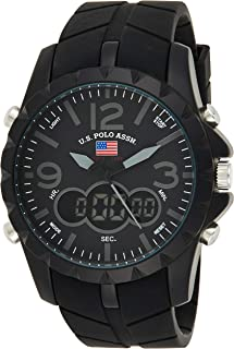 U.S. Polo Assn. US9058 Men's Quartz Watch, Analog-Digital Display and Stainless Steel Strap