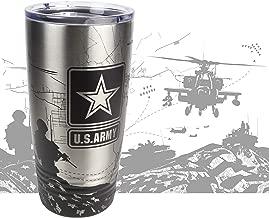 United States Army Tumbler - Military Cup - US Army Mug - Laser Engraved 360 Degree Wrap - Soldier Yeti Style 20 oz Stainless Mug