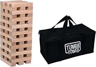 Transpac A3150 Outdoor Wood Tumble Tower 8-inch Length Set of 54