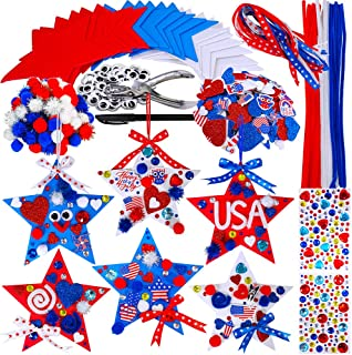 Fireworks Stars and Stripes Holiday American Flag Fourth of July Red White Blue 8 pcs of 6X6 PAPER