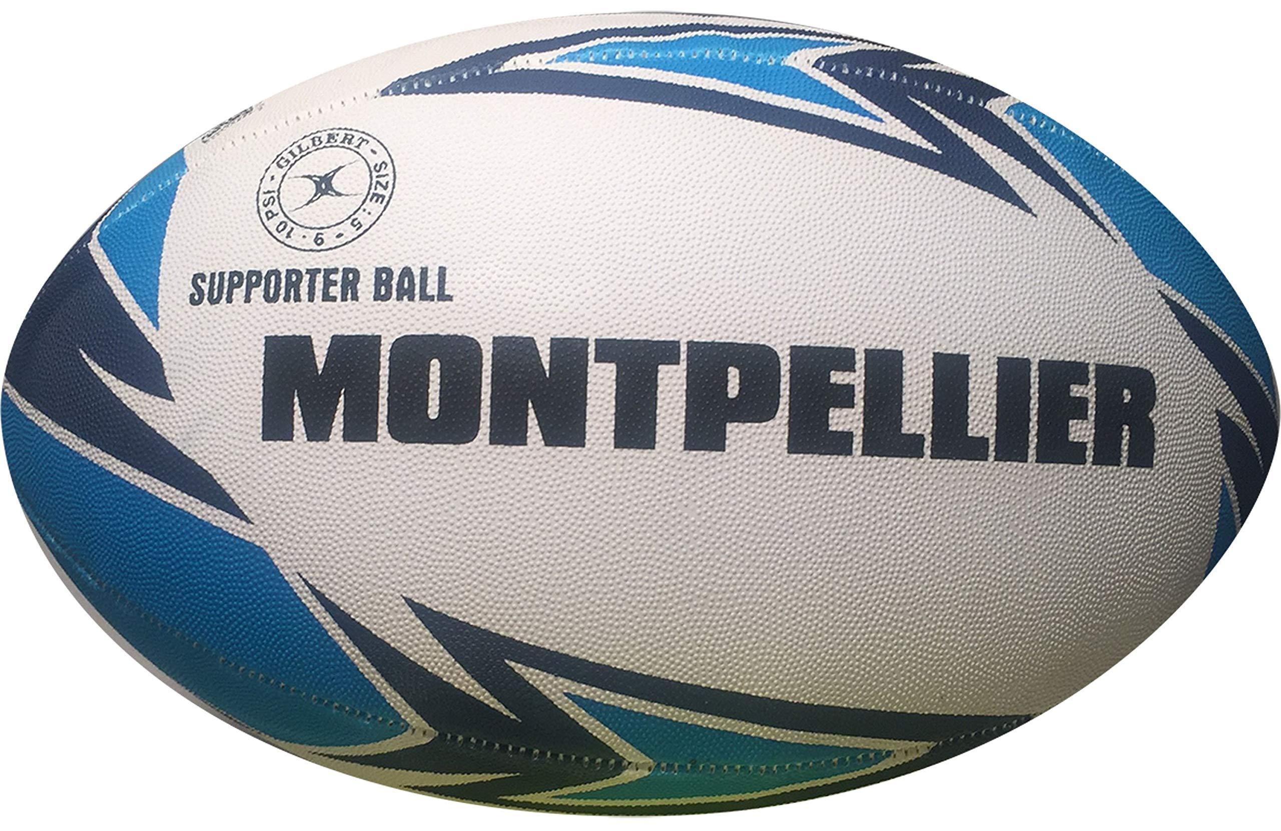 Montpellier Hérault de balón de Rugby Oficial – Gilbert – Talla 5 ...