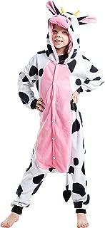 Unisex Child Pajama Plush Onesie One Piece Cow Animal Costume