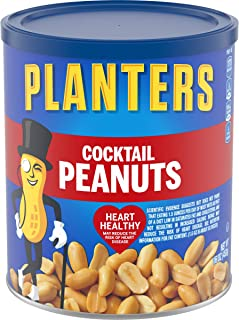 PLANTERS Salted Cocktail Peanuts, 16 oz. Resealable Jar | Cholesterol Free Heart Healthy..