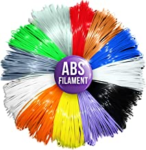 3D Pen Filament Refills - 1.75mm ABS Printer Refill Pack - 240 Linear Feet in 20 Foot Lengths Per Color - 80 Stencil E-Boo...