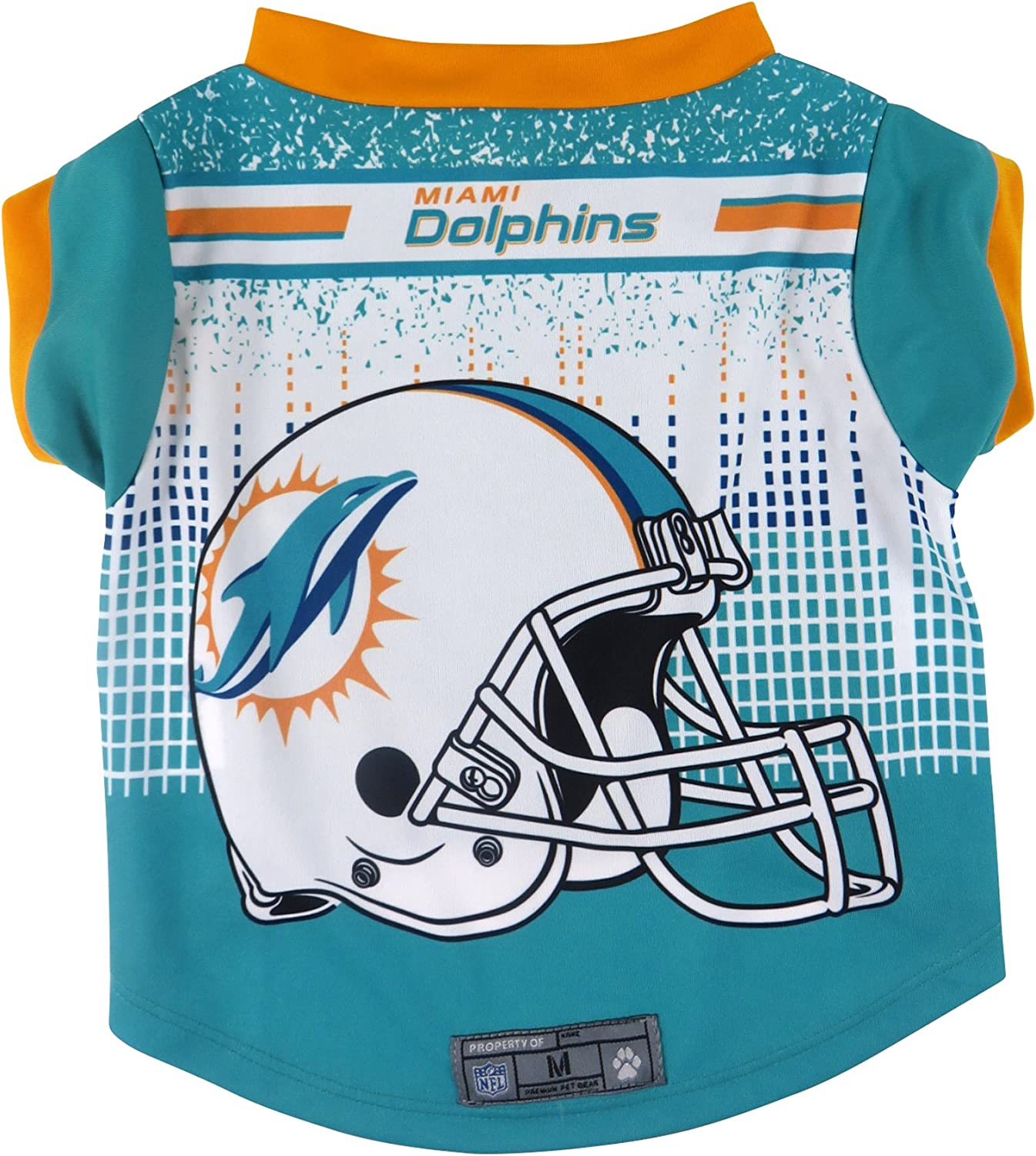 Littlearth NFL Miami Dolphins Pet Performace T-Shirt, Large