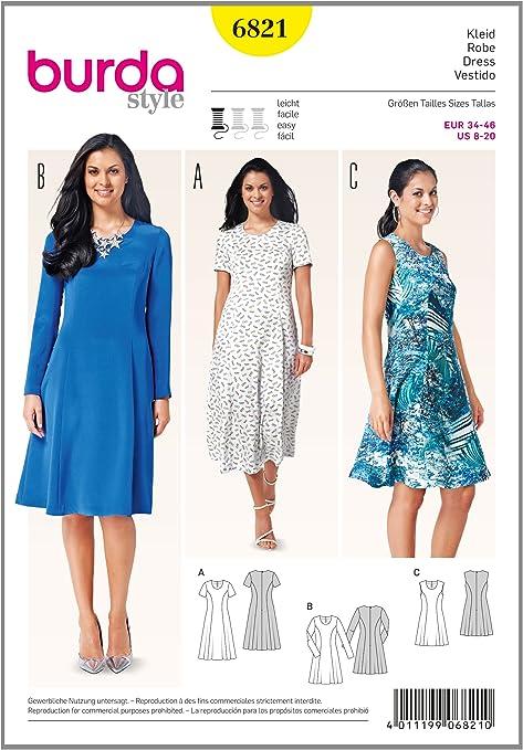 Kleid einfach schnittmuster Schnittquelle Schnittmuster