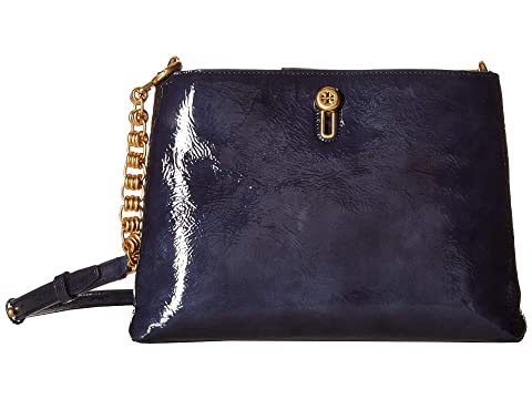 f5fb7ae3f18e8 Tory Burch Lily Patent Chain Crossbody at Zappos.com