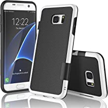 Galaxy S7 Edge Case, TILL(TM) Ultra Slim 3 Color Hybrid Impact Anti-Slip Shockproof Soft TPU Hard PC Bumper Extra Front Raised Lip Case Cover for Samsung Galaxy S7 Edge G935 5.5Inch [Black]