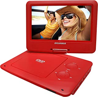 Sylvania SDVD9020B-RED 9-Inch Swivel Screen Portable DVD Player (Renewed)