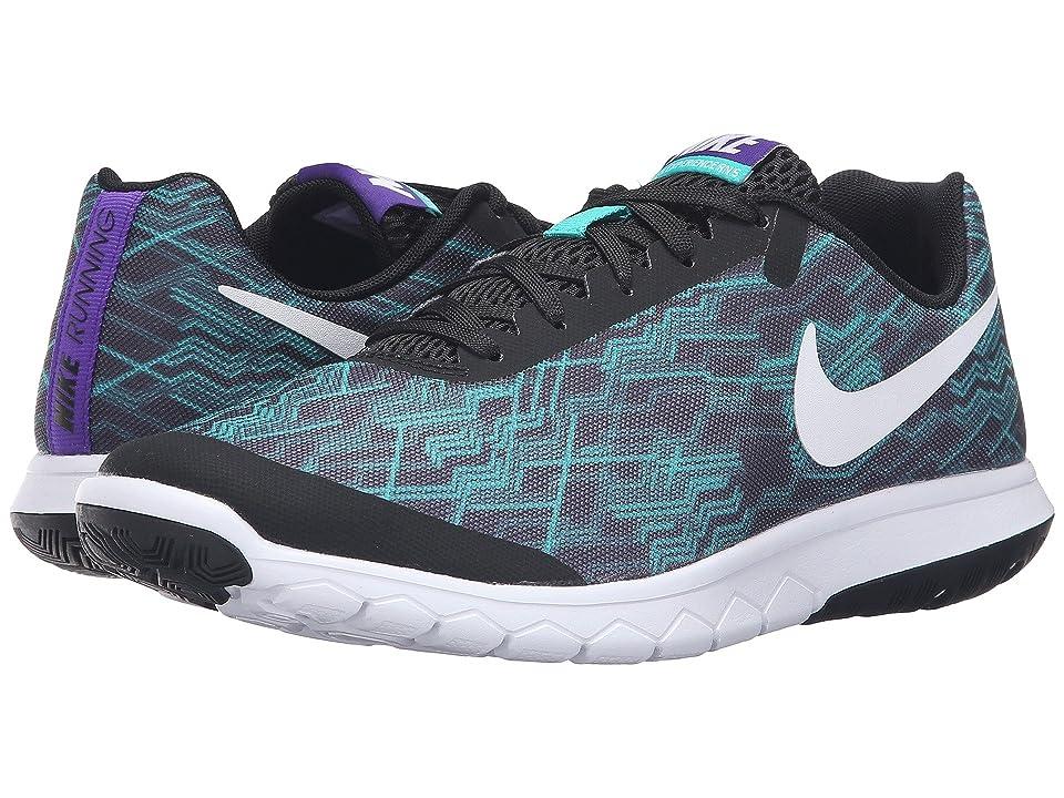 Nike Flex Experience RN 5 Premium (Black/White/Clear Jade/Fierce Purple) Women