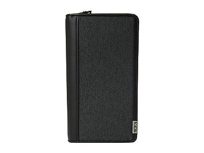 Tumi Alpha Zip Around Travel Wallet (Anthracite/Black) Wallet Handbags