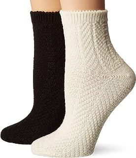 Women's Chevron Rib Mini Crew Boot Sock, 2 Pair Pack