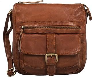 """STILORD Louise"""" Vintage Umhängetasche Damen Leder klein Messenger Bag Tablet-Tasche für 9.7 Zoll iPad Schultertasche DIN A5 Handtasche aus echtem Rindsleder"""