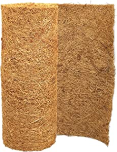 SUNYAY 12x40 inch Natural Coco Liner Roll Coconut Coir Liner Sheets Coco Mat for Planter Window Box Flower Basket Garden Decoration Animal Pet Pad Liner