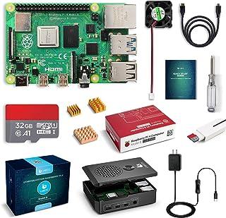 LABISTS Raspberry Pi 4 Complete Starter Kit with Pi 4 Model B 1GB RAM Board, 32GB Micro SD Card Preloaded Noobs, 5V 3A Pow...