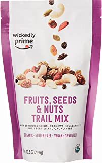 Wickedly Prime Organic Sprouted Trail Mix, Fruits, Seeds & Nuts, 10.5 Ounce