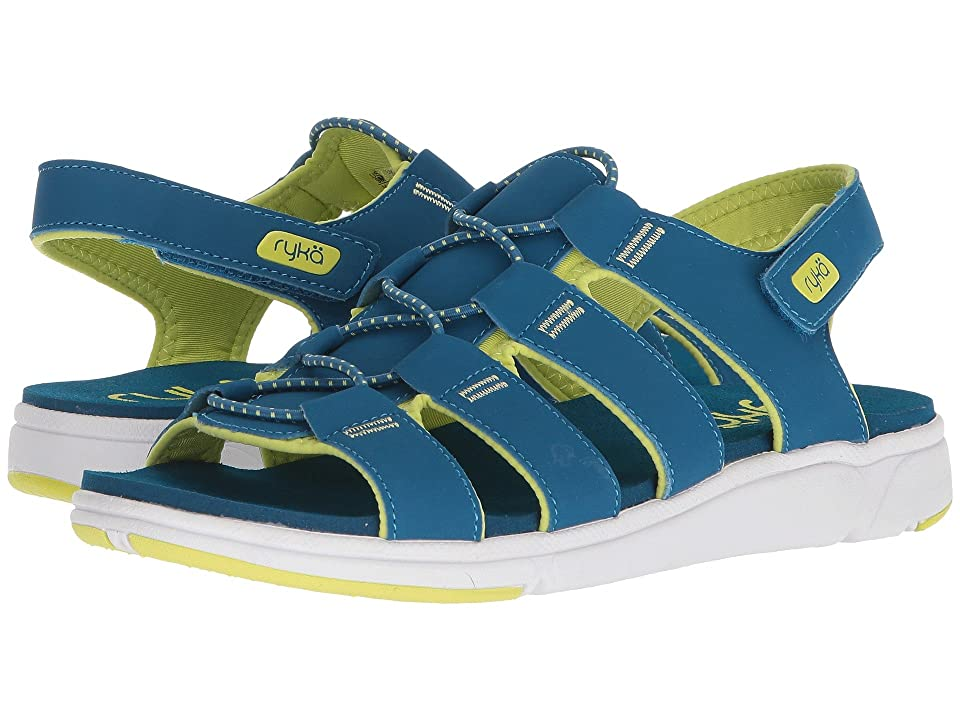 Ryka Misty (Seaport/Bright Chartreuse) Women's Shoes, Blue