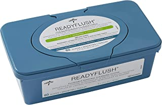 Medline MSC263800H ReadyFlush Large Adult-Sized 8x12 Personal Cleansing Cloths - Tub of 60 Flushable Wipes